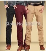 High quality autumn and winter 100% cotton men trousers,business men casual cotton pants
