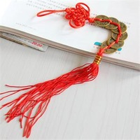 Brand Prosperity Good Fortune Chinese Coins Hanger New Red Luck Chinese Feng Shui 6 Coins Hanger