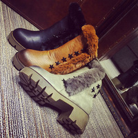 New autumn and winter 2014 women's high-heeled short boots thick with female British style thick crust Martin boots