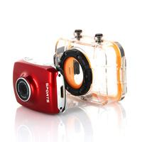"DHL Free Shipping Mini Sports Camera Action Camera 1920x1080p Full HD 1.3Mp Sensor 2"" Touch Screen 140 Wide Angle Lens,5Pcs/Lot"