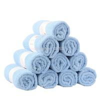 100% Cotton Towel Solid Color Plain Dyed Blue Face Towels Quick-Dry 50cm*80cm 1 PCS/Lot Free Shipping Bath Towels Face Towels