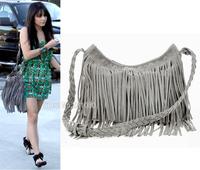 Limited number! Explosion models !! Leather Fringed Shoulder Bag Diagonal Fashion  Woman Handbag Free Shipping