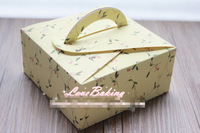 Free Shipping Wholesale High-grade tarts boxes cookie package Cake box, muffin biscuits box 14x14x6.5cm 10pc / lot