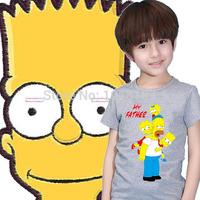 Graffiti Simpson Print T Shirt For Children Cotton Casual Kids T-Shirt Top Tees Size XS-M Drop Shipping