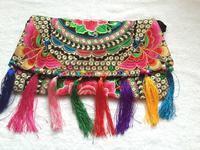Hot Retail Ethnic Handbag Embroidery Embroidered Shoulder messenger Bag New Woman tassel cover Handbags