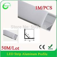 50M/Lot V Shape 1616Cormer bar light project lighting for LED Strip Light to Indoor Lighting Decoration Aluminum led profile