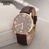 2014 New Arrival Sinobi Luxury Brand Man Male Wristwatch Military Sports Watch Leather Quartz Calendar Watches
