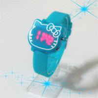 Hot Sale Hello Kitty clock Wristwatch Fashion Girl Ladies Women Led Watch Children Cartoon Silicone Sports Watch relojes Relogio