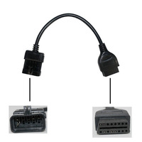 Free Shipping 10Pin to OBD2 16PIN Cable for Opel
