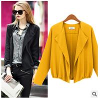 2014 European Autumn Coat Loose Women Wild Women Suit Jacket Collar Women Coat Outwear   xjh258