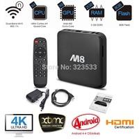 Original M8 fully loaded XBMC Amlogic S802 Android TV Box Quad Core 2G/8G Mali450 4K 2.4G/5G Dual WiFi Pre-installed APK ADD ONS