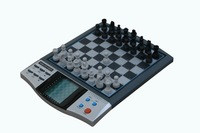 1 piece Powerbrain beginner Chess game, Magnetic, talking function LCD display,8 games included free shipping