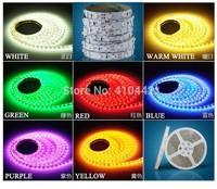 Free shipping IP60 Non-Waterproof 5M 3528 LED Strip Light 600 LED DC 12V Cool White LED tape ribbon led strip 5m