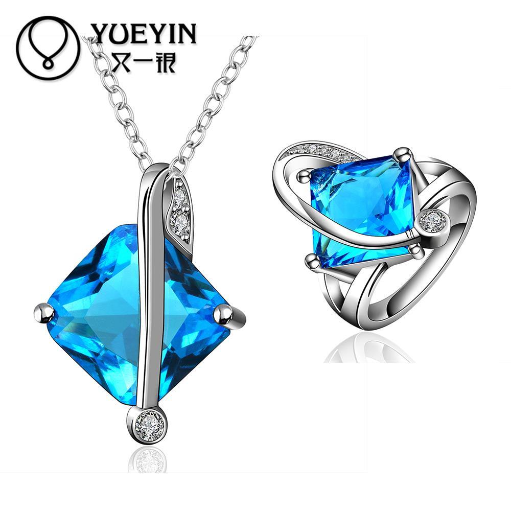 FVRS029 2015 new fine jewelry sets Extravagant Party jewlery set for lady Fashion Big Crystal set