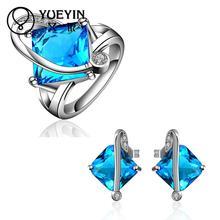 FVRS031 2015 new fine jewelry sets Extravagant Party jewlery set for lady Fashion Big Crystal set