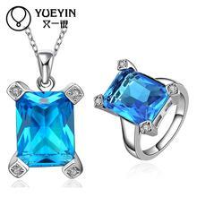 FVRS045 2015 new fine jewelry sets Extravagant Party jewlery set for lady Fashion Big Crystal set