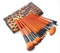 18PCS Leopard Makeup Brushes Maquiagem Sets Kits Wood Professional Cosmetics Face Care Brand No Logo Sex Products Kabuki Brush