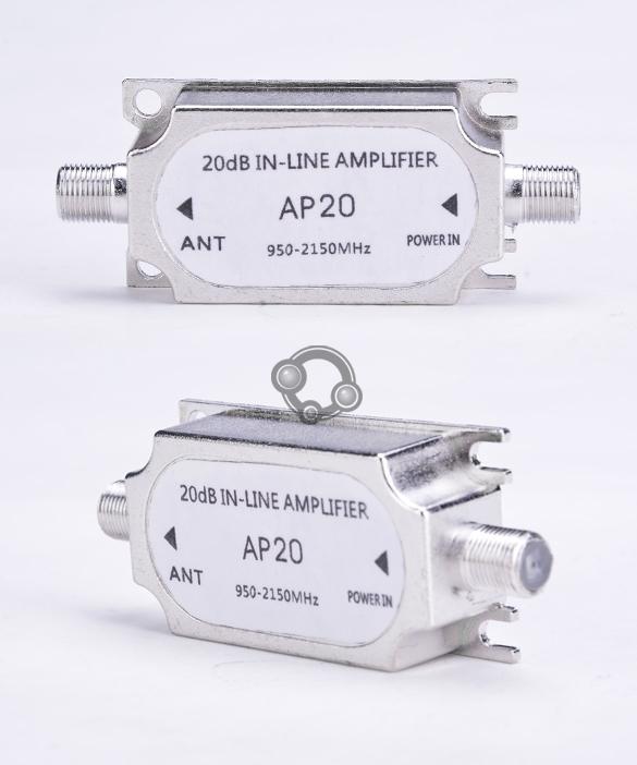 Satellite Inline Amplifier Signal Booster Dish Network Antenna#(China (Mainland))