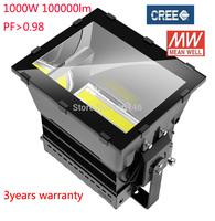 1000w high power industrial light MEANWELL driver CREE chip waterproof IP65 3years warranty UL SAA CE