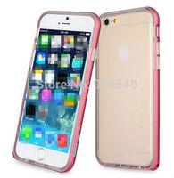 30pcs Fusion Series 0.7mm Aluminium Bumper Arc + TPU Clear Soft Case For iPhone 6 4.7 inch + free shipping