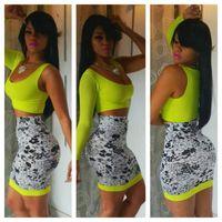 2014 New Bandage Dress Women Plus Sizes Summer One Shoulder 2 Pieces Celebrity Dress Vestidos Sexy Bodycon Party Dresses Hot