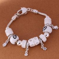 925 Sterling Silver Bracelet Snake Chain Screw European Silver Charms Beads  /ggjaoxqa gtvaplca PH005