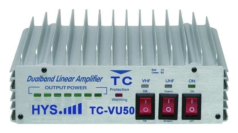 Аудио усилитель FM/cw/ssb 50W DUAL BAND VHF UHF FM tc/vu50 TC-VU50 уф 82 dual band fm двусторонней радиосвязи трансивер рации адаптер сша