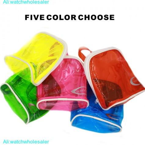 Vinyl PVC Purse Shopping Tote Bag, Makeup Case Cosmetic Travel Bag Orange MB232D(China (Mainland))