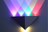 LED Wall Lights  5W Triangle pure aluminum wall lamp AC85~265V  LED Spot Light  Background atmosphere light