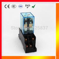omron relay LY2NJ (3sets/Lot) LY2 HH62P JQX-13F ac 12v 24v 36v 48v 110v 220v 2P2T 10A and w/ base socket holder high quality
