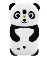 For samsung galaxy s4 mini i9190 3D Panda cartoon silicone cell phone case cover
