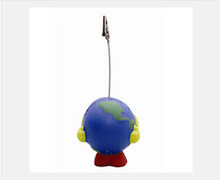 New free shipping promotion creative product Standing Earth Note Holder Stress Ball customed logo(China (Mainland))