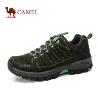Camel genuine grommet lace slip summer new matte leather men's hiking shoes