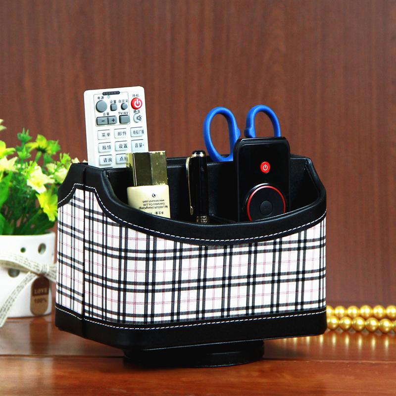 New crocodile grain 5-slot leather storage revolve cosmetics box leather pan storage mobile phone pan organizer in red/Black(China (Mainland))