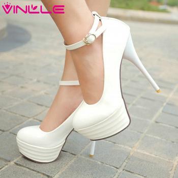 Vinlle 2015 мода сексуальный тонкий высокие каблуки женщин туфли на высоком каблуке ...