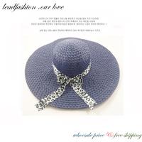 Lead Fashion sombrero chapeu panama Foldable Wide Brim Large Floppy fan Sandbeach Cap summer Sun Straw Hat for Women atacs fg
