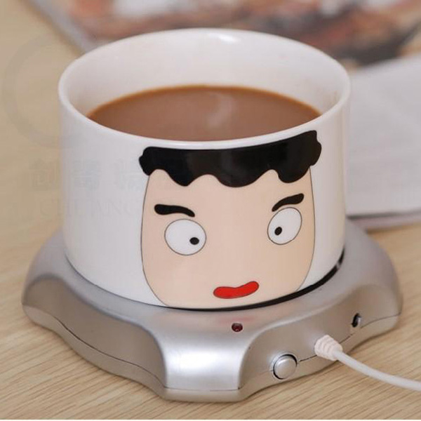 Portable Convenient Milk Coffee Tea Drinks USB Power Supply Cable Heater Mat Vacuum Cup Pad 1PC(China (Mainland))