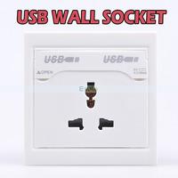 Dual USB Universal Charging Socket Panel USB Wall Socket 2.1A