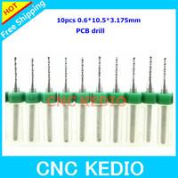 Free Shipping 10pcs 0.6 x 3.175mm Shank Needle PCB Drill Bits Print Circuit Board Bits,PCB Cutting PCB Tools CNC Router