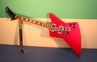 Classic  red 1958 korina explorer electric guitar shaped