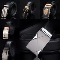 19 Kinds of Buckles Black Belt Body Cowskin Genuine Leather Men's Belt Male Leather Belt Strap Waist Belts MSA032
