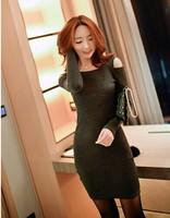 2014 autumn new Women Vintage slim Waist casual dress Stretch Tunic Casual Party Pencil Sheath Dress