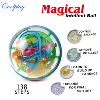 Free shipping 138 Steps 925A Puzzle ball Big Educational Magic Intellect Ball Marble Puzzle Game perplexus magnetic balls