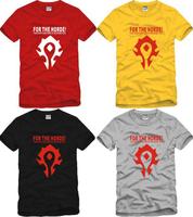 World of Warcraft Logo T shirt men's Round Neck Short Sleeve 100% Cotton Shirts Personalized Tribe Casual Shirts Free Shipping