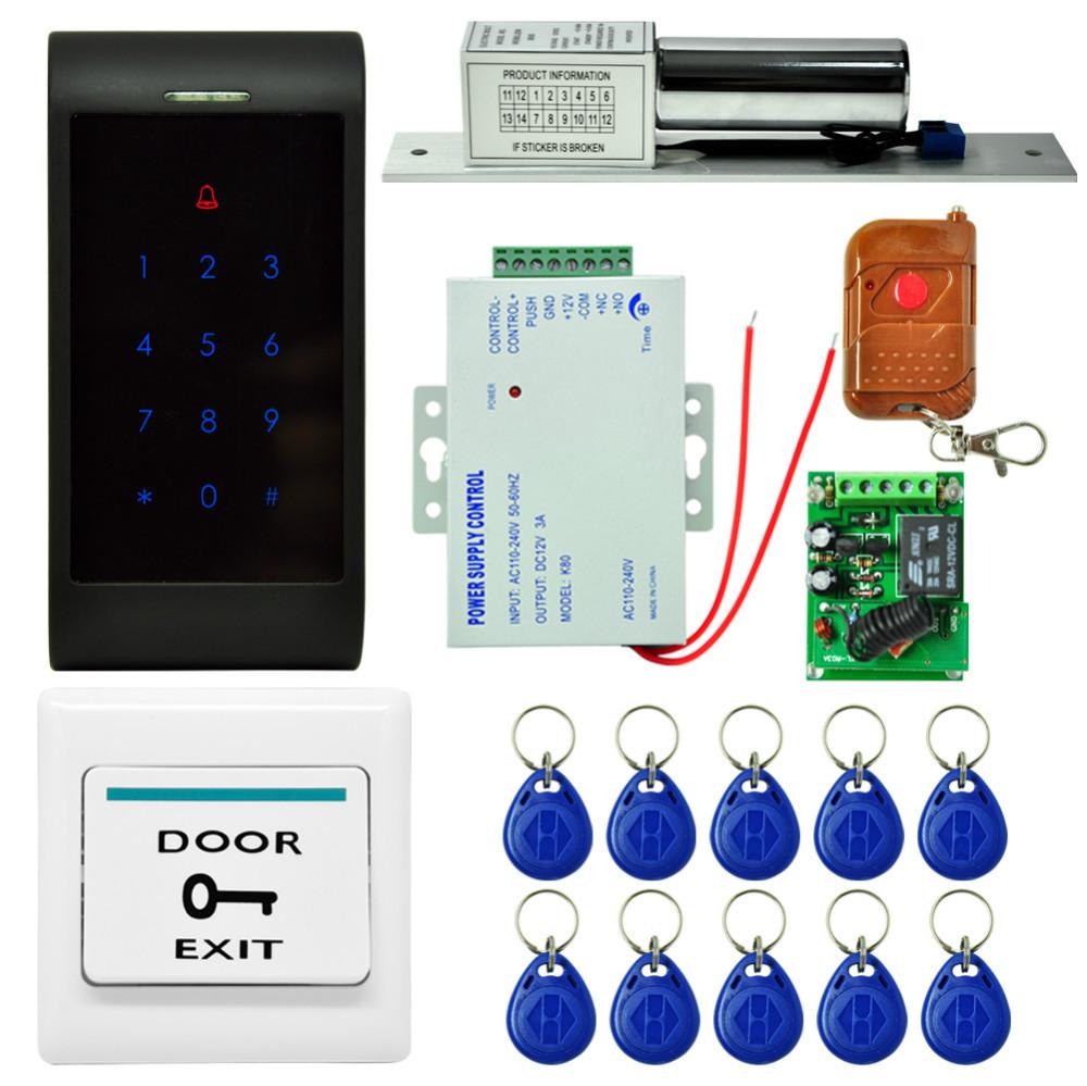 rfid card access controller 125khz rfid keypad access control system kit electronic door lock. Black Bedroom Furniture Sets. Home Design Ideas