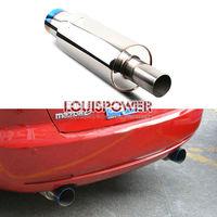 Hi-Power 410 Super Flow Burnt Tip 3inch Inlet Stainless Steel Car Exhaust Muffler
