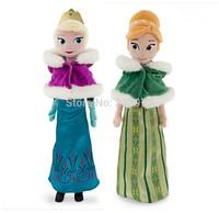 2PCS/Set 50CM Frozen Plush Doll Toys Winter Princess Elsa Plush Doll Anna Plush Doll Brinquedos Doll For Kids Christmas Gifts