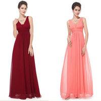 Fashion 2014 New Women Casual Dress Sexy Deep V-Neck Long Chiffon Dress Elegant Celebrity Party Dresses Pleated Maxi Dresses