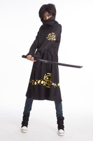 cosplay anime costume onepiece Trafalgar Law The two generation Winter sweater Men's Cloak