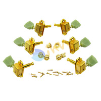 Golden Deluxe Green Top Tuning Pegs 3L3R Machine Heads for LP Stye Guitar